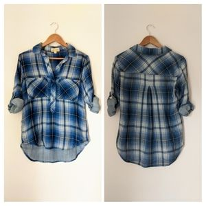 {Anthro} Cloth & Stone plaid soft shirt